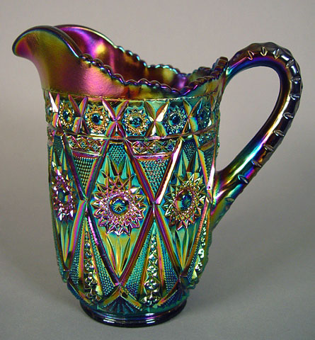 Diamond Lace pitcher, in purple